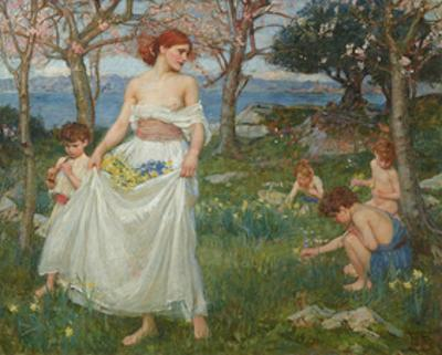 A Song of Springtime by J.W. Waterhouse
