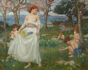 A Song of Springtime by J^W^ Waterhouse