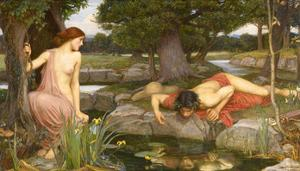 Echo and Narcissus, 1903 by J.W. Waterhouse