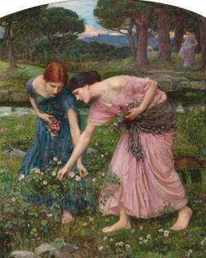 Gather Ye Rosebuds by J^W^ Waterhouse