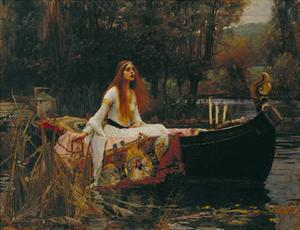 The Lady of Shalott, 1888 by J.W. Waterhouse