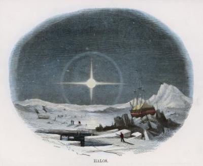 Arctic Scene with Lunar Halo