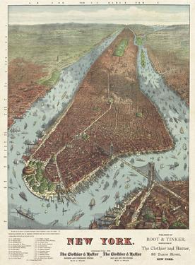 Map of Manhattan, 1879 by J.W. Williams