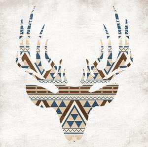 Aztec Deer No Background by Jace Grey