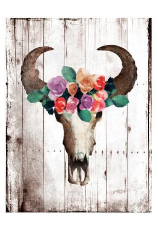 Bull Floral Crown by Jace Grey