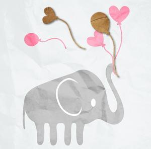 Elephant Balloon by Jace Grey