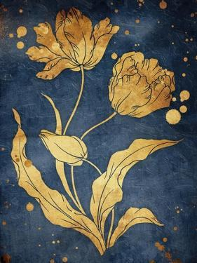 Floral Golden Blues Mate by Jace Grey