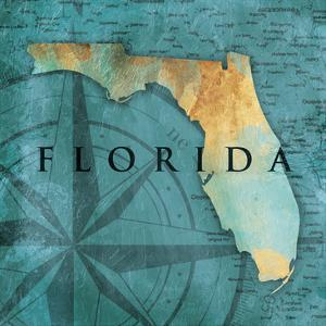 Florida Sea Map by Jace Grey
