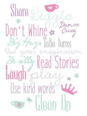 Girls Play Room Rules by Jace Grey
