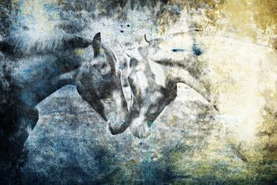Kissing Blue Horses