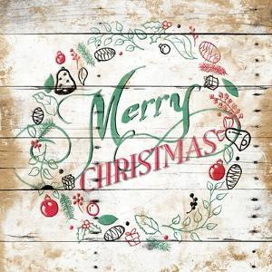 Merry Christmas Wreath by Jace Grey