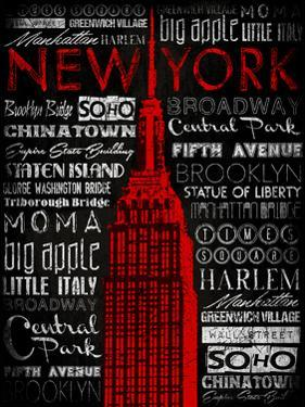 NY Type Red by Jace Grey