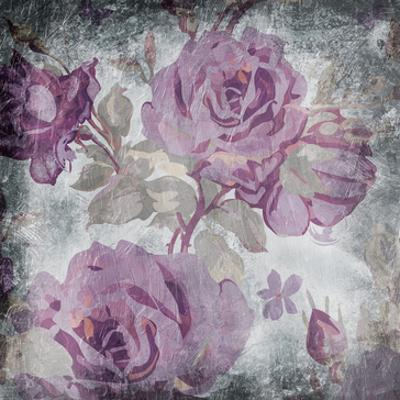 Purple Grey Flowers Mate by Jace Grey