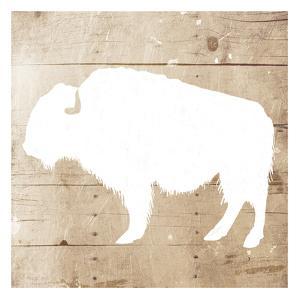 White On Wood Buffalo by Jace Grey