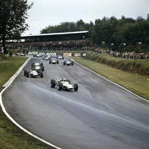 Jack Brabham Leading the Race, British Grand Prix, Brands Hatch, Kent, 1966