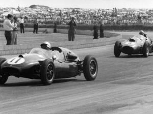 Jack Brabham leads in his Cooper T45, 1958 British Grand Prix