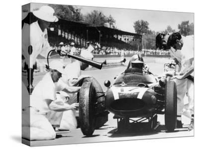 Jack Brabham's Cooper in the Pits, Indianapolis 500, Indiana, USA, 1961