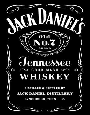 Jack Daniel's Black Logo Tin Sign