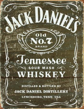 Jack Daniel's - Weathered Logo Tin Sign