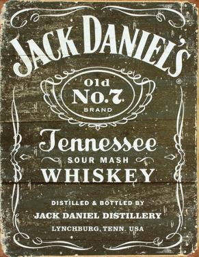 Jack Daniel's - Weathered Logo Tin Sign