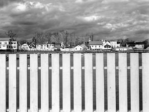 Fence, Clouds, and a Connecticut Town by Jack Delano