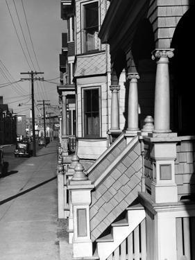House Fronts in New Bedford by Jack Delano