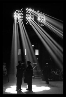 In the Waiting Room of Union Station, Chicago by Jack Delano