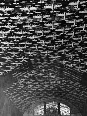 Model Airplanes on the Ceiling of Union Station, Chicago, 1943 by Jack Delano