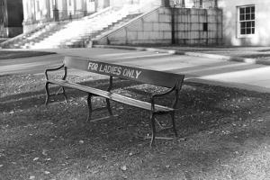 Reserved Bench by Jack Delano