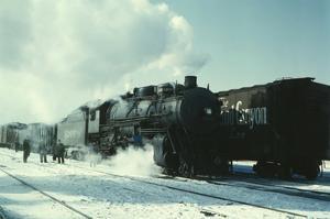 Santa Fe R.R. Freight Train by Jack Delano