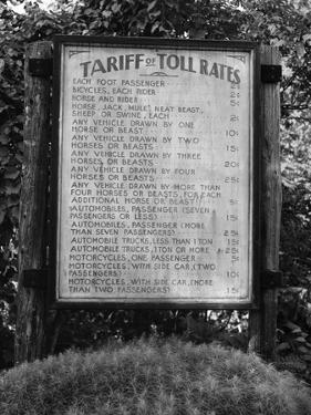 Sign at Toll Bridge by Jack Delano