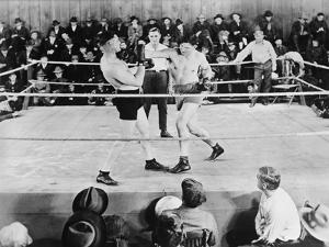 Jack Dempsey, World Heavyweight Champion. Boxing in the Ring, Ca. 1922-26