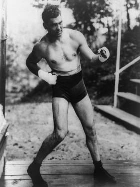 Jack Dempsey, World Heavyweight Champion, Training at Michigan City, Indiana, Ca. 1922