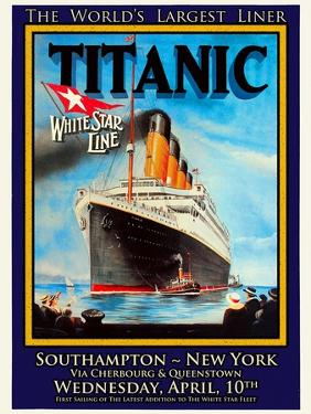 Titanic White Star Line Travel Poster 1 by Jack Dow