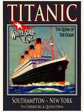 Titanic White Star Line Travel Poster 3 by Jack Dow