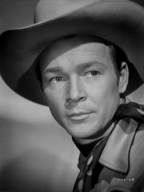 Roy Rogers in Cowboy Hat Headshot Portrait by Jack Freulich