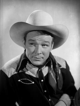 Roy Rogers Posed with White Background by Jack Freulich