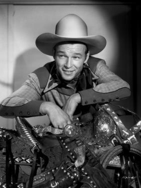 Roy Rogers smiling in Cowboy Outfit by Jack Freulich