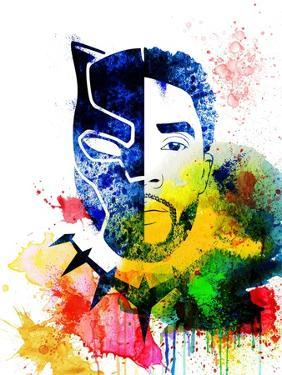 Black Panther Watercolor I by Jack Hunter