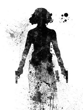 Black Widow Watercolor by Jack Hunter