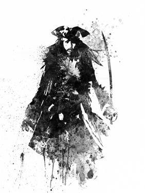 Captain Jack Sparrow Watercolor by Jack Hunter