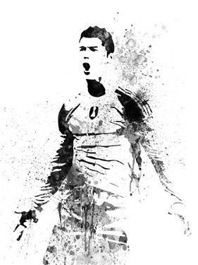 Cristiano Ronaldo Watercolor I by Jack Hunter
