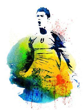 Cristiano Ronaldo Watercolor by Jack Hunter