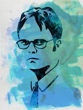Dwight Schrute Watercolor by Jack Hunter