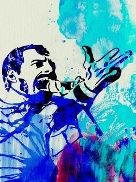 Freddie Mercury Watercolor by Jack Hunter