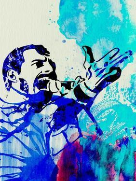 Freddie Mercury Watercolor by Jack Hunter