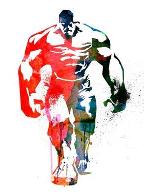 Hulk Watercolor I by Jack Hunter