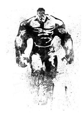 Hulk Watercolor by Jack Hunter