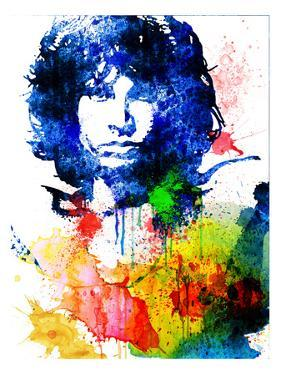 Jim Morrison Watercolor by Jack Hunter