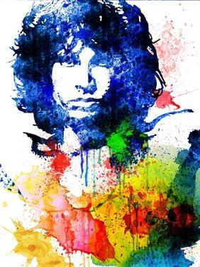 Jim Morrison Watercolor by Jack Hunter